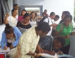 Mahasiswa Baru yang antusias berdatangan untuk mengikuti ibadah